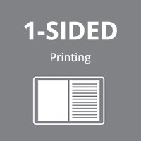 1-sided printing