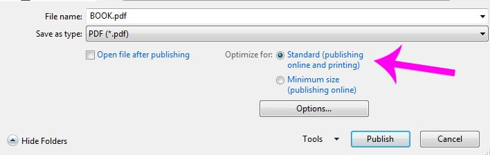 Optimize for Printing